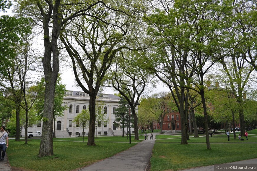 Здание из белого гранита - University Hall (Университетский зал) - национальный исторический памятник. Построено 1815 по проекту известного американского архитектора Чарльза Булфинча. Проект 1781 года.