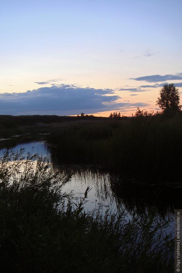 Река Караганка на закате...