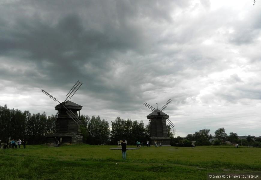 Мельницы в музее деревянного зодчества