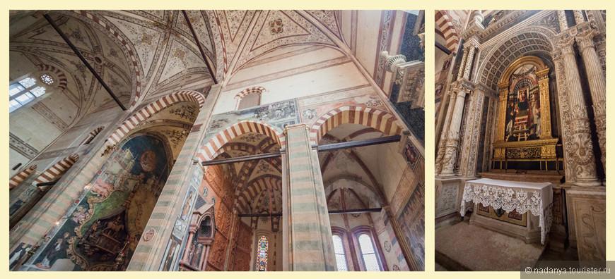 Все часовни храма богато декорированы и расписаны