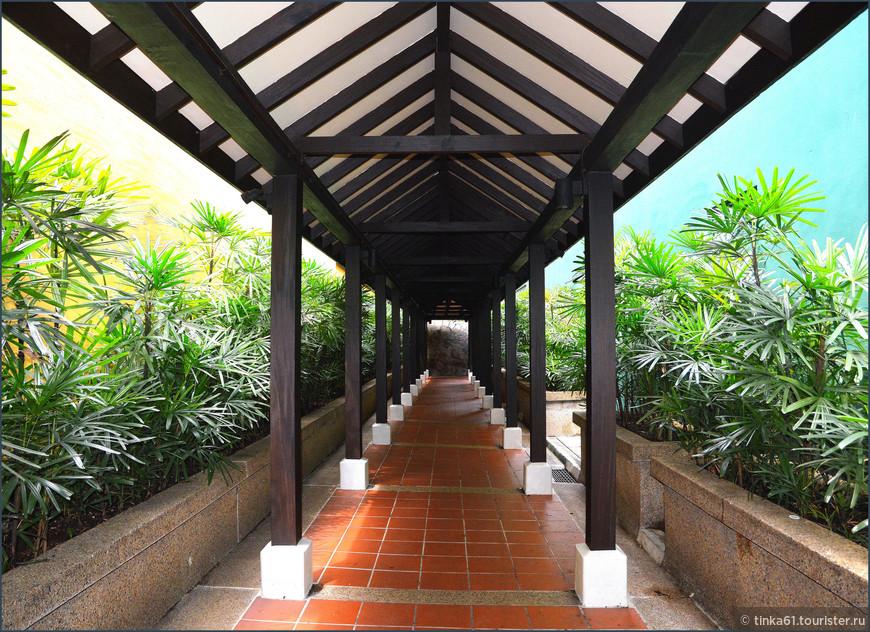 Вход в парк Ann Siang Hill.