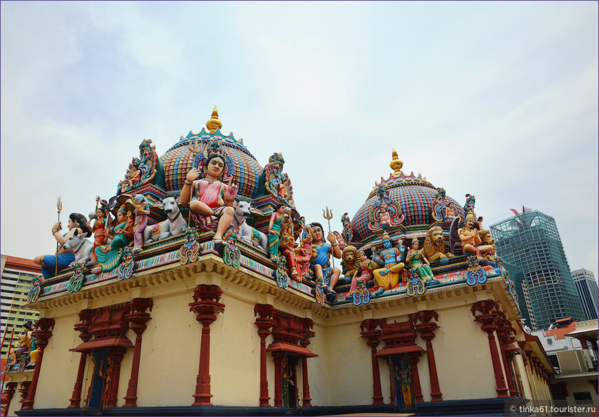 На территории храма.