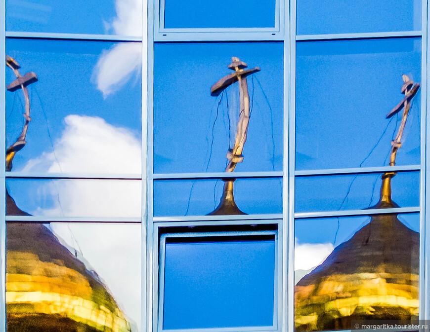 Кресты и Купола старообрядческого храма Николая чудотворца у Тверской заставы на Белорусской