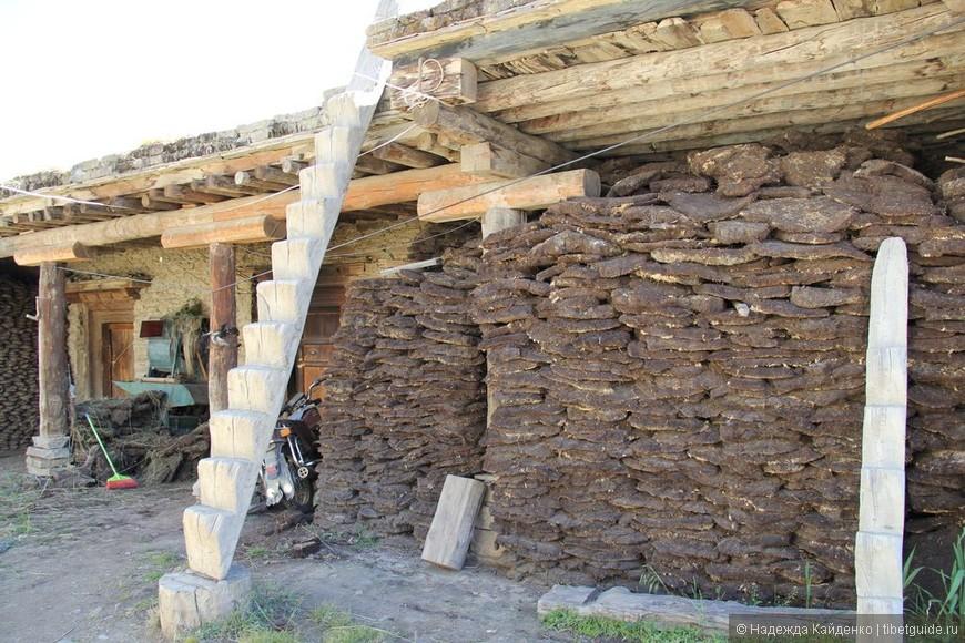 запасы на зиму зажиточной тибетской семьи