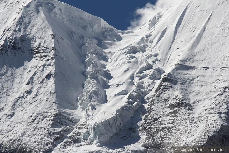 огромный ледник на Янмаюн, когда-нибудь он совсем сползет