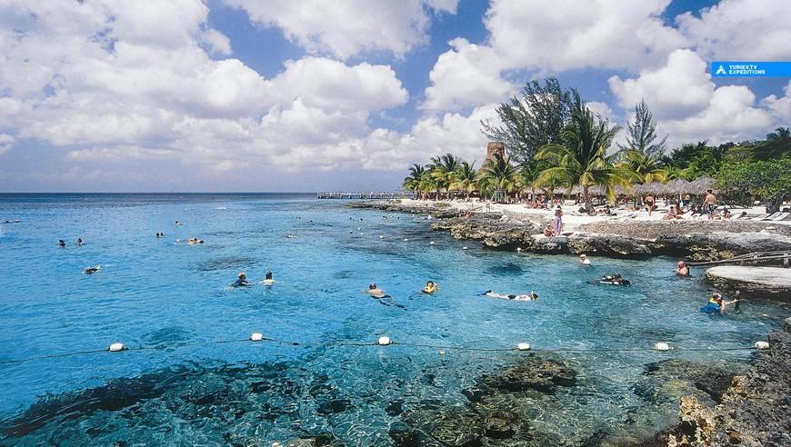 Пляжи на северной части. Остров Косумель, Ривьера Майя, Юкатан, Мексика www.yuriev.tv