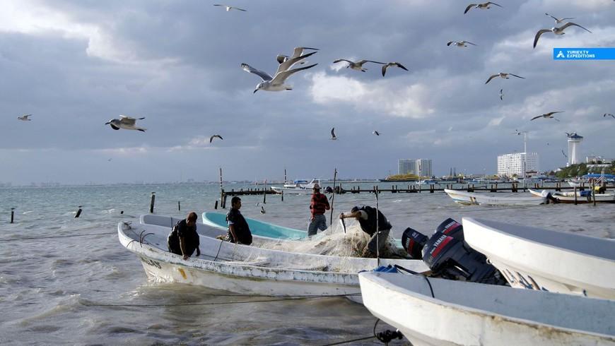 Рыбаки. Остров Косумель, Ривьера Майя, Юкатан. www.yuriev-expeditions.ru
