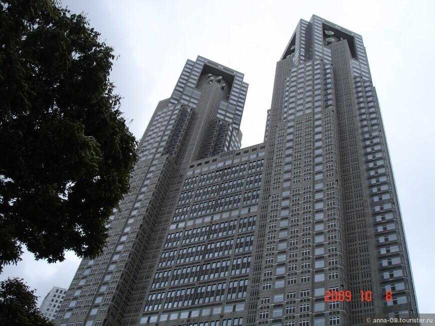Второе по высоте здание Токио - Токийское правительственное здание №1. Токийский муниципалитет это комплекс из трех зданий, соединенных в единую композицию. Главное здание высотой 243 метра и 45 этажей. Оно напоминает футуристический готический собор и на высоте 33-го этажа  раскалывается на две башни — Северную и Южную. Эти башни специалисты окрестили японским «Нотр-Дам де Пари».