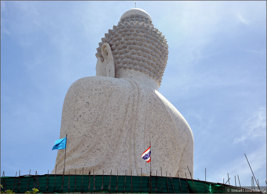 Прощальный взгляд на Большого Будду со спины.