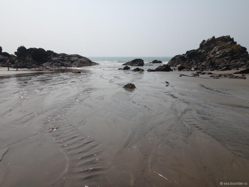и мокрый песок