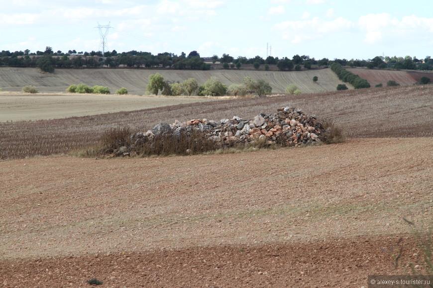В некоторых местах видны хорошие груды камней, выбранных с окружающих полей.