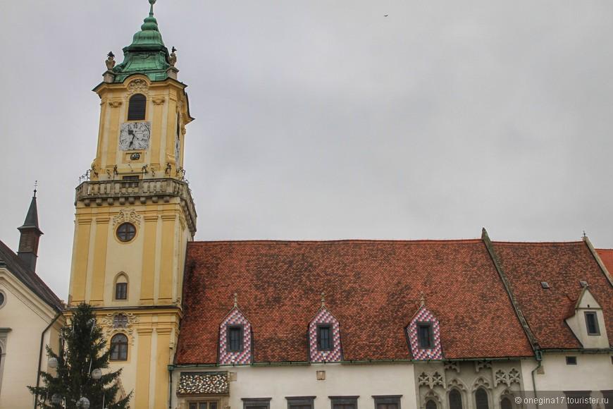 Старая Ратуша. Одно из самых старых зданий Братиславы (13 век).