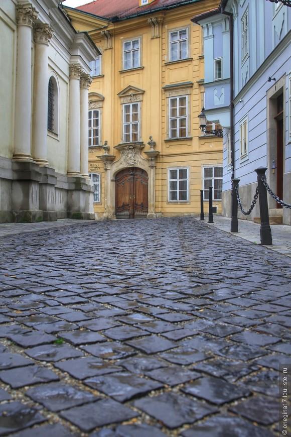 Старая брусчатка Францисканской улицы.
