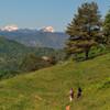 на фоне горы Триглав