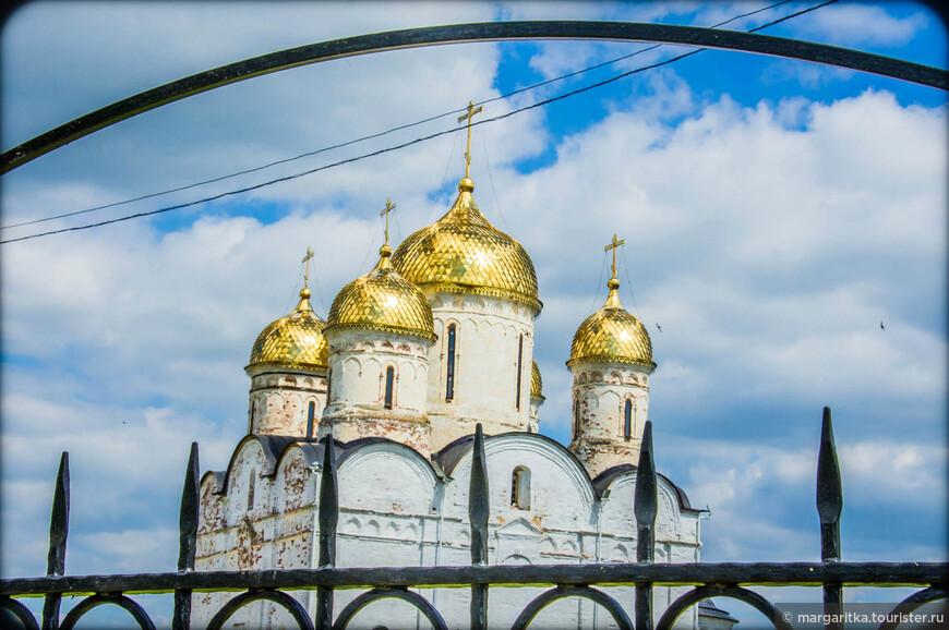 через ограду купола Собора Рождества Пресвятой Богородицы