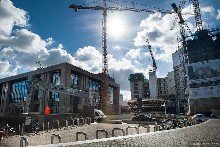 Строящее новое здание Совета Европы