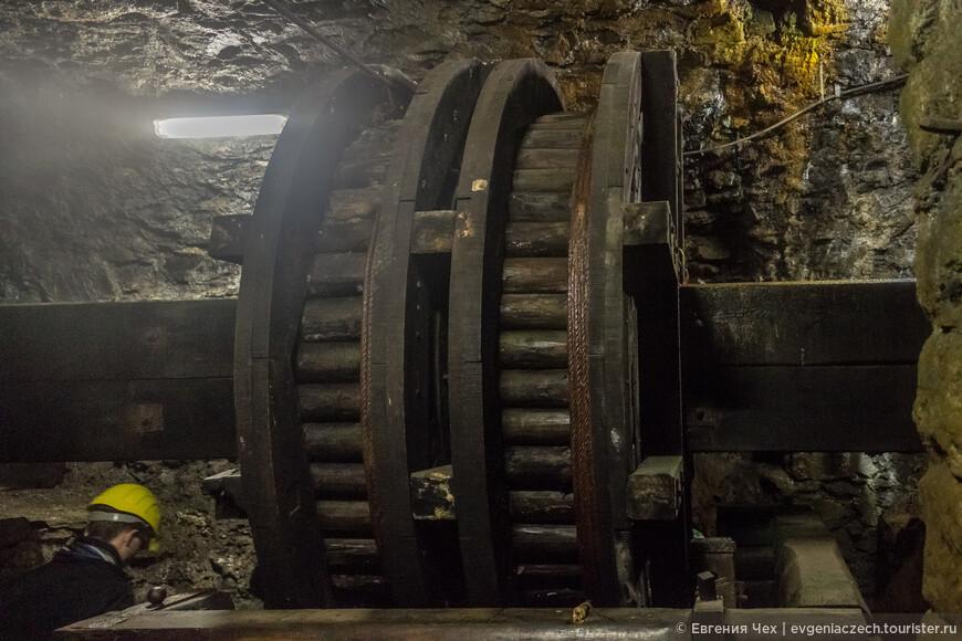 Вот и первое колесо мельницы.