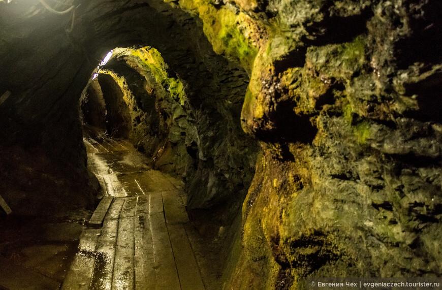 Спускаемся по узким коридорам - капает.