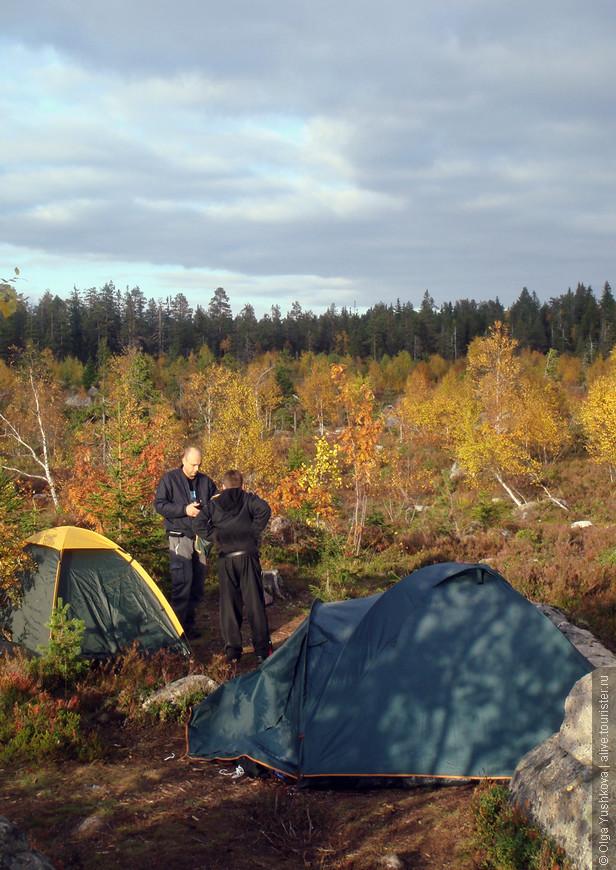 И вот палаточный лагерь уже разбит...