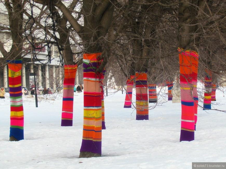 Зима однако... и деревьям холодно бывает)