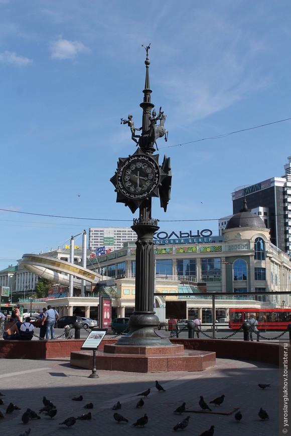 Часы на площади Тукая.