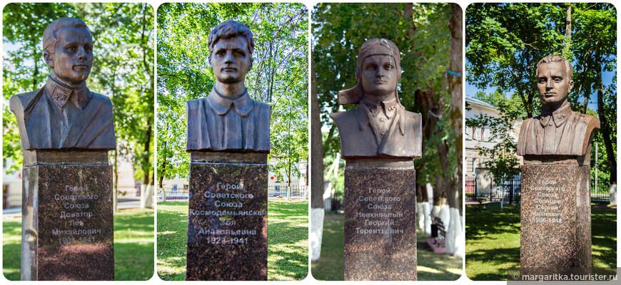 аллея Славы посвященная героям Советского Союза воевавшим на рузской земле ведет в сторону площади с собором