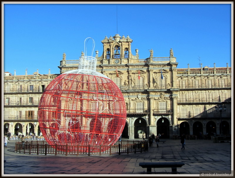 Рыночная площадь Саламанки, Испания.