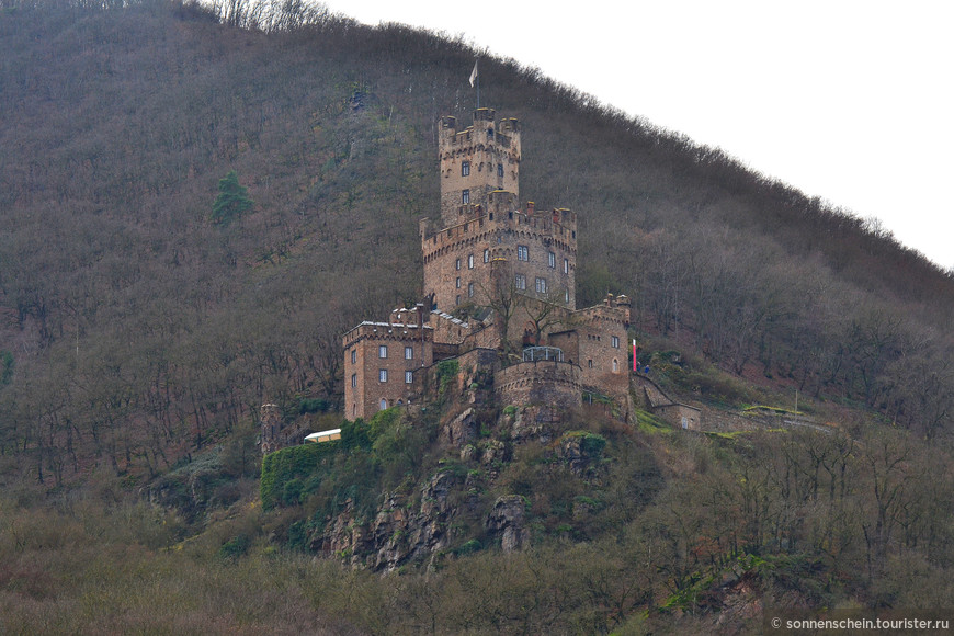 """В 1689 г., как водится, взорвали, в 19 в. отстроили по желанию принца прусского Фридриха Вильгельма в качестве охотничьего """"домика"""". Сейчас замок находится в собственности федеральной земли."""