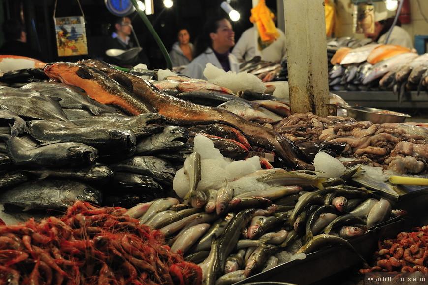 Изобилие морепродуктов.