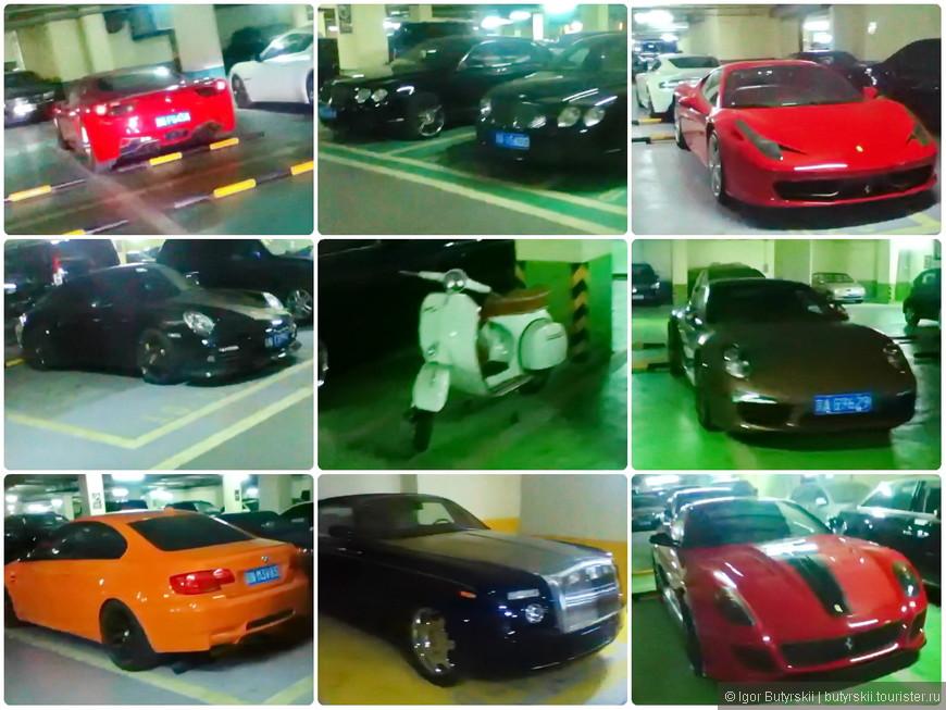 29. Вот даже Vespa есть, как будто на выставке дорогих машин в Европе, но это просто гараж...