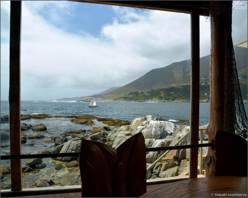 Вид из окна ресторана.