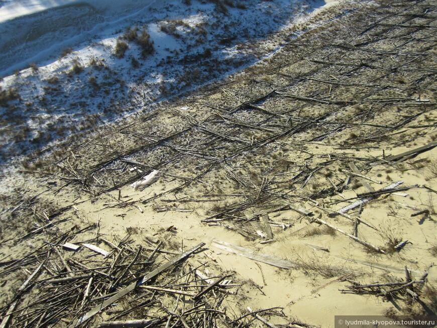 Рыболовство было почти единственным занятием жителей ещё и потому, что здесь безумно трудно было что-то вырастить: растениям тяжело было укорениться в песке. Люди пытались разводить огороды на песчаных почвах, делая своеобразный каркас, не дающий ветру сдуть песок. Приблизительно таким способом действуют сейчас, чтобы уменьшить движение песка.