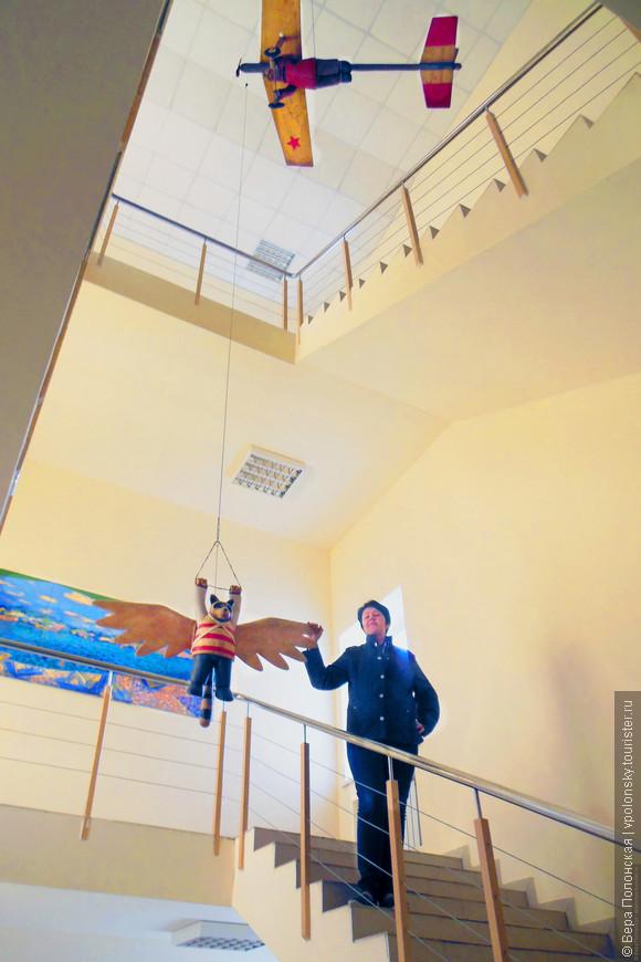 Интерьер гостиницы «Арт-Пенза» также изобилует арт-объектами.