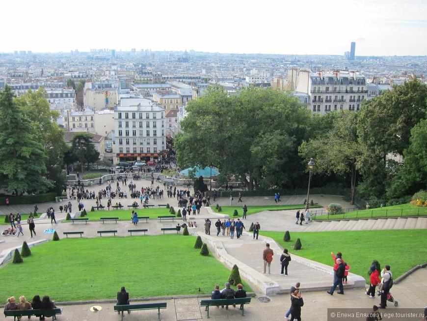 Париж с Монмартра  (от собора Сакре Кёр)