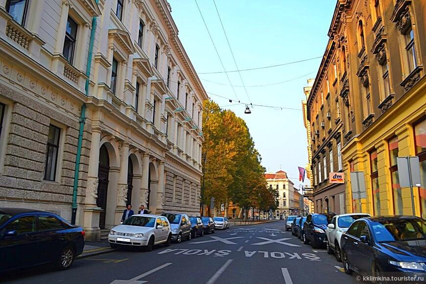 Улицы Загреба.
