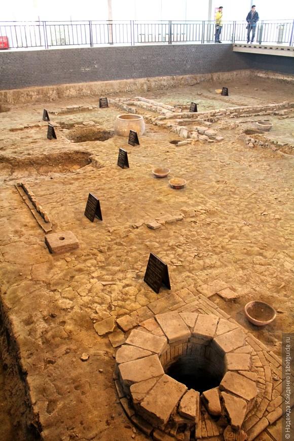 Древние раскопки. Эпоха Тан. Более 1300 лет назад здесь жили люди.