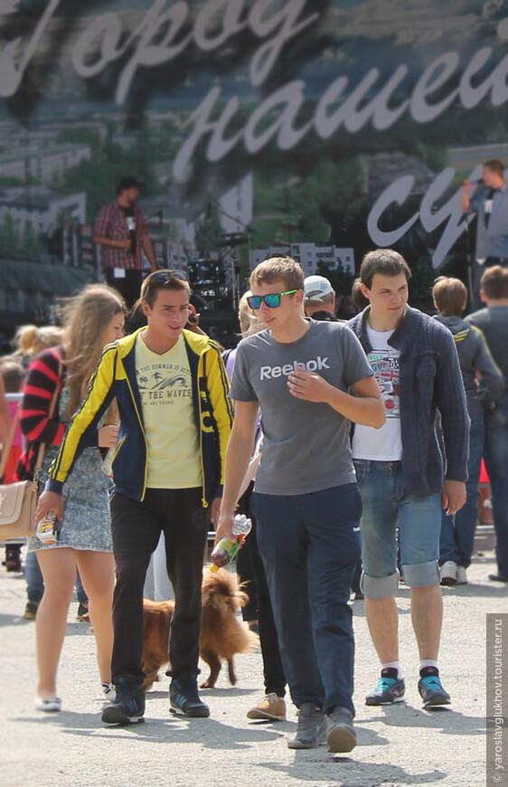 На площади Мира во время празднования дня города в Краснокамске.
