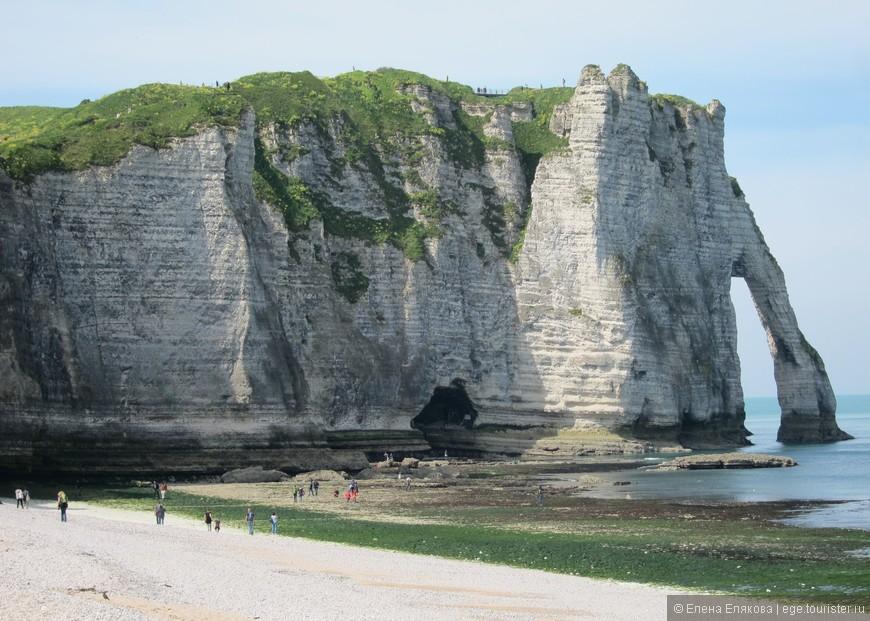 """Белые скалы Этрета, которые рисовал Клод Моне - именно эта скала с """"хоботом слона"""" есть на его картинах"""