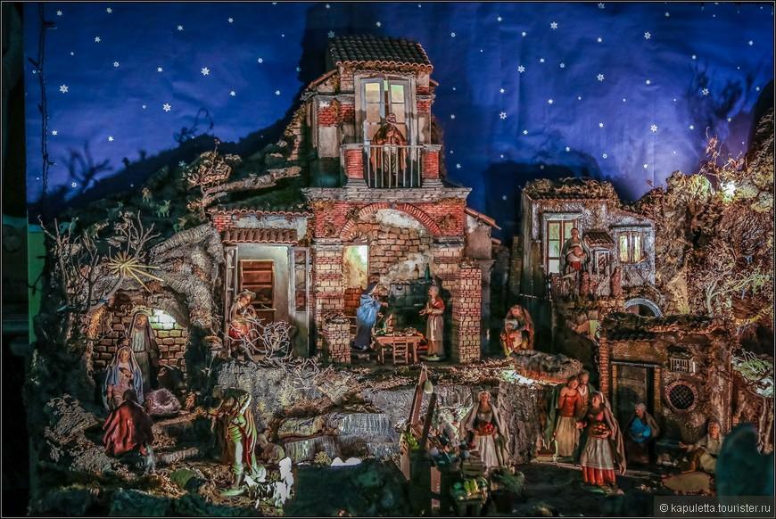 Но зато я никогда и нигде не видела таких чудо -городков, жители которого переносят нас в эпоху Рождения Христа....Каждая фигурка делает свое дело....