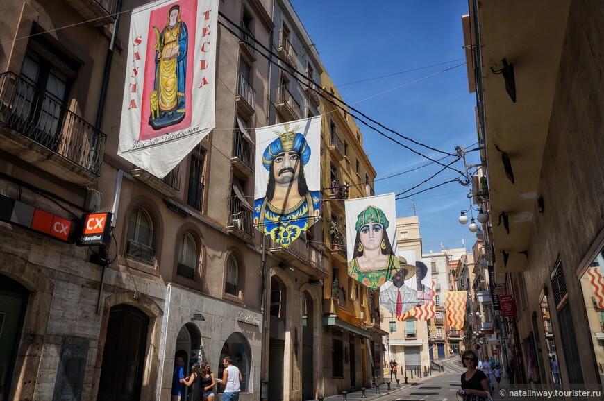 Улицы украшены к празднику Святой Феклы