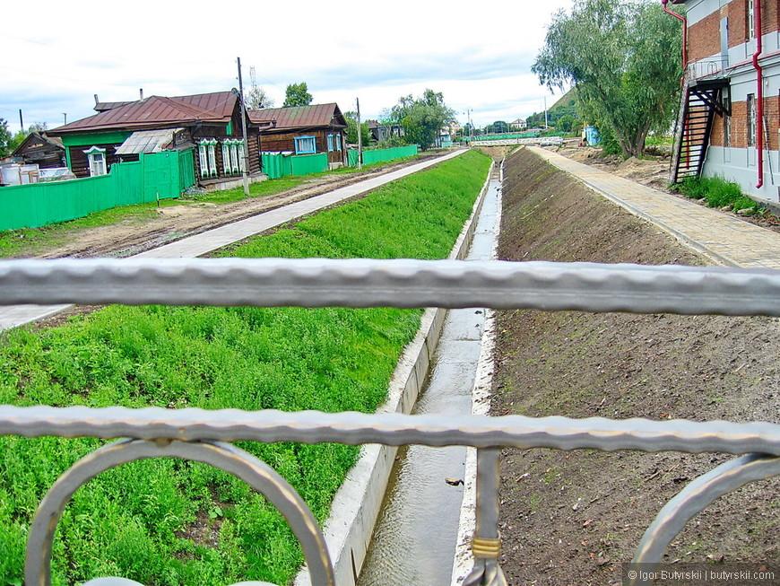 17. Озеленение каналов, правда частичное.