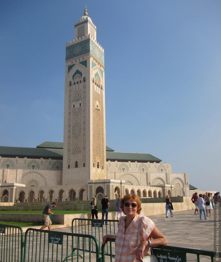 Касабланка - мечеть Хасана II, это вторая по величине мечеть после мечети Аль-Харам в Мекке.  Самый грандиозный и пышный мусульманский храм, построен в ХХ веке. Мы были внутри, там раздвижная крыша, как раз раздвигалась, когда мы там были