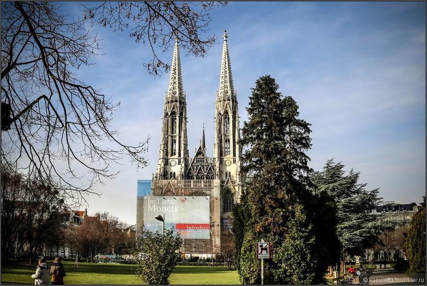 Со своей высотой в 99 метров — церковь является второй по высоте церковью Вены!