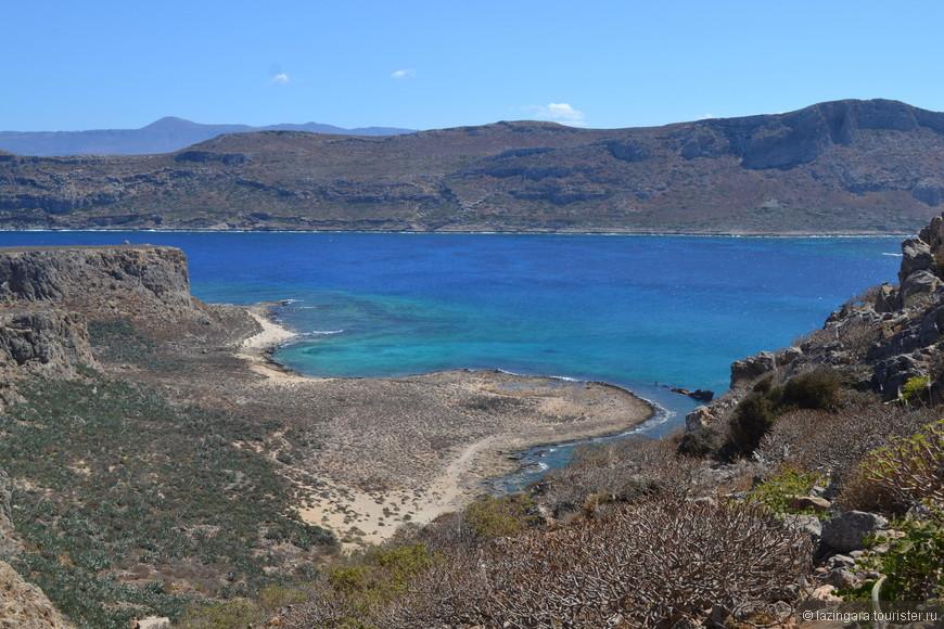 Есть на Крите такое место, куда стремятся попасть многие ценители красивых мест, напоминающих частичку рая. Место это называется бухта Балос. Бухта эта примечательна тем, что она является местом слияния трех морей - Критского, Средиземного и Ионического