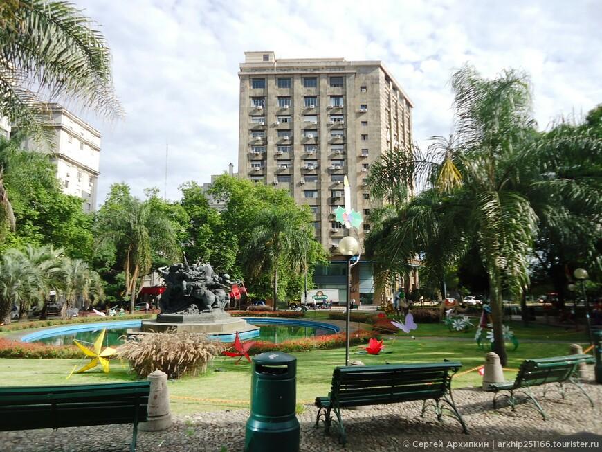 Площадь Каганча в Монтевидео