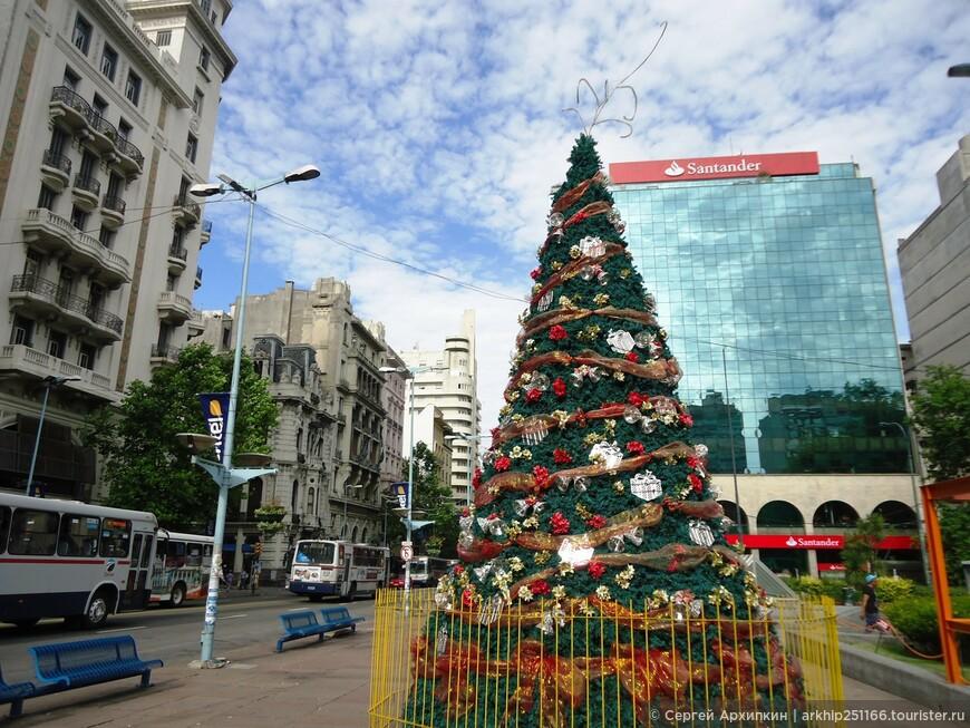 Новогодняя елка 31 декабря 2014 в Монтевидео