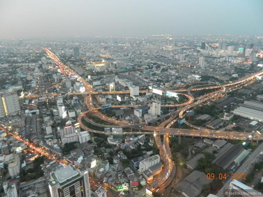 Бангкок, вид с Байоки скай
