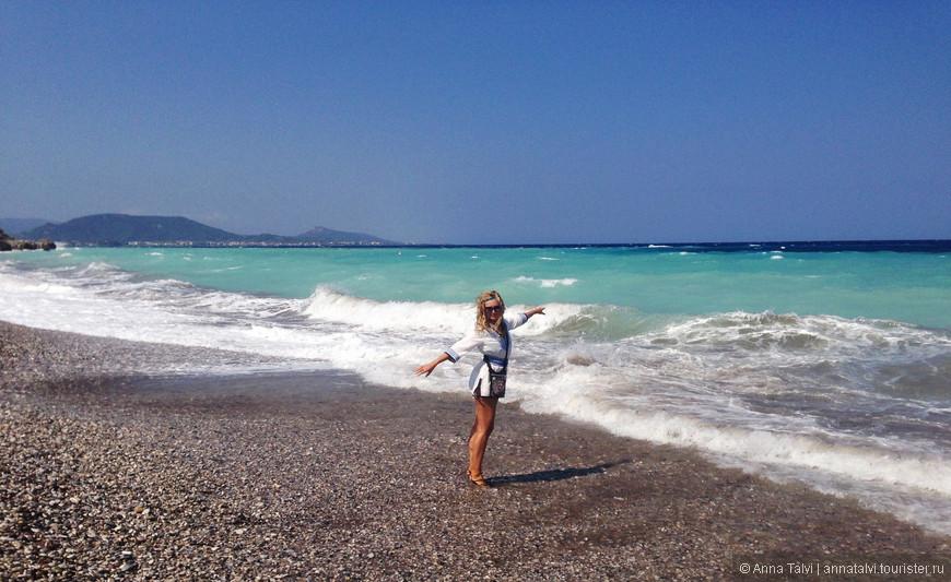 но так хотелось остаться, пытались войти в море, но в этот день были cлишком сильные волны