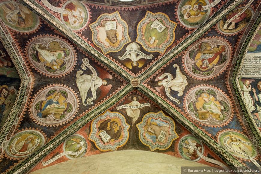 Роспись выполнена  Hans von Bruneck, в 1417.
