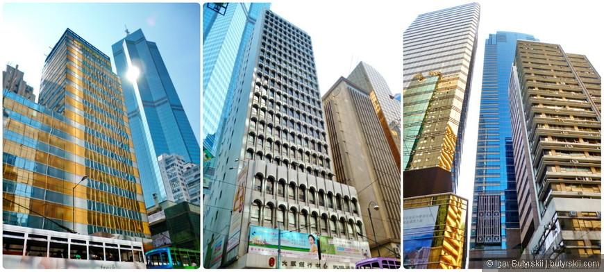10. Небоскрёбы разного дизайна, разных лет, всё скомпоновано в очень плотный комок зданий.